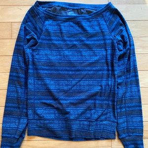 Blue & grey stripe Nike Dri Fit long sleeve XS